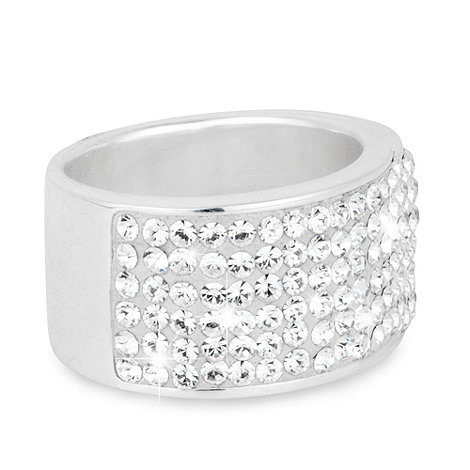 Simply Silver - Simply silver pave crystal band ring