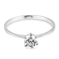 Simply Silver - Cubic zirconia solitaire sterling silver ring