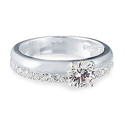 Simply Silver - Sterling silver cubic zirconia wedding ring