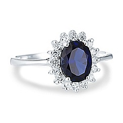Simply Silver - Sterling silver cubic zirconia kate ring