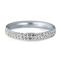 Simply Silver - Sterling silver crystal pave eternity ring