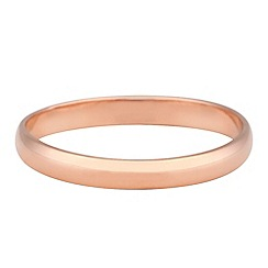 Simply Silver - Plain rose gold narrow band ring