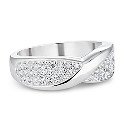Simply Silver - Sterling silver pave twist ring