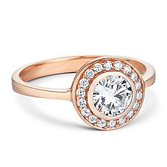 Simply Silver - Sterling silver rose gold halo ring