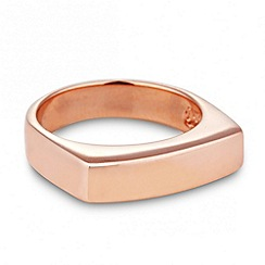 Simply Silver - Sterling silver rose gold square band ring
