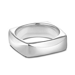 Simply Silver - Sterling silver polished square ring