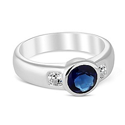 Simply Silver - Blue cubic zirconia set sterling silver ring