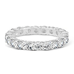 Simply Silver - Sterling silver cubic zirconia eternity ring