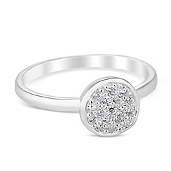 Simply Silver - Sterling silver pave circle ring