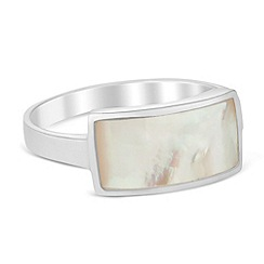 Simply Silver - Sterling silver mother of pearl ring