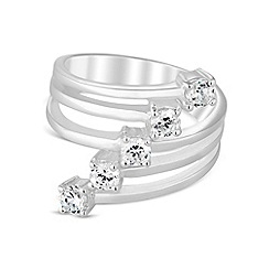Simply Silver - Sterling silver cubic zirconia spray ring