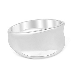 Simply Silver - Sterling silver polished concave ring
