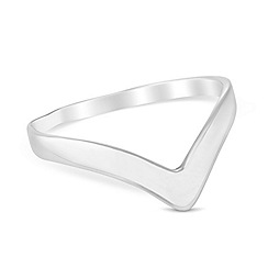Simply Silver - Sterling silver wishbone ring