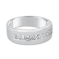 Simply Silver - Sterling silver square cubic zirconia ring