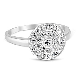 Simply Silver - Sterling silver micro pave circle ring