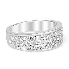 Simply Silver - Statement cubic zirconia set band ring
