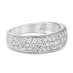 Simply Silver - Sterling silver cubic zirconia band ring