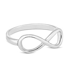 Simply Silver - Sterling silver polished infinity ring