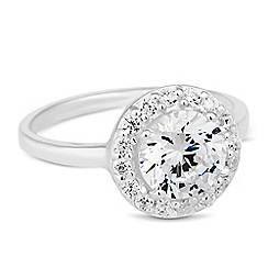 Simply Silver - Sterling silver cubic zirconia Clara ring