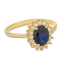 Simply Silver - Sterling silver cubic zirconia gold Kate ring
