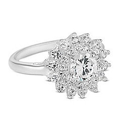 Simply Silver - Sterling silver mixed cubic zirconia Kate ring