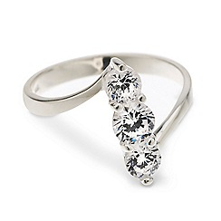 Simply Silver - Sterling silver cubic zirconia triple stacked ring
