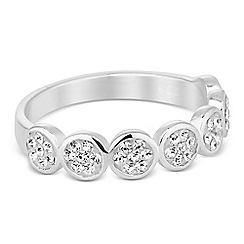 Simply Silver - Sterling silver crystal circle band ring