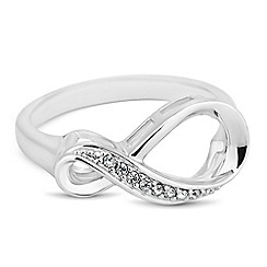 Simply Silver - Sterling silver cubic zirconia infinity ring