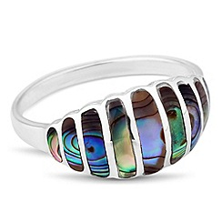 Simply Silver - Sterling silver abalone inspired domed ring