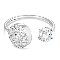 Simply Silver - Sterling silver cubic zirconia encased disc ring