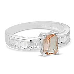 Simply Silver - Sterling silver morganite ring