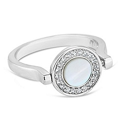 Simply Silver - Sterling silver mother of pearl spinner ring