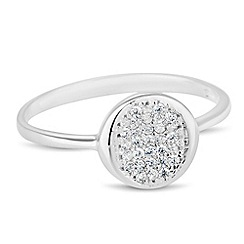 Simply Silver - Sterling silver cubic zirconia disc ring