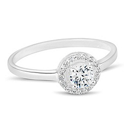 Simply Silver - Sterling silver mini clara cubic zirconia ring
