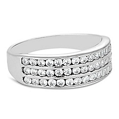 Simply Silver - Triple row cubic zirconia ring