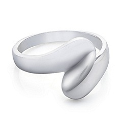 Simply Silver - Polished sterling silver twist ring