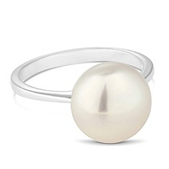 Simply Silver - Sterling silver pearl ring