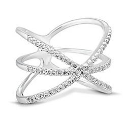 Simply Silver - Sterling silver embellished cage inspired ring