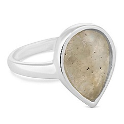 Simply Silver - Sterling silver labradorite pearcut ring