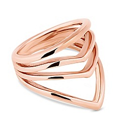 Simply Silver - Rose gold plated sterling silver open row ring