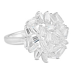 Simply Silver - Sterling silver cubic zirconia cluster ring