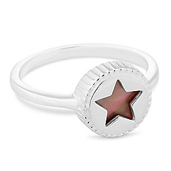 Simply Silver - Sterling silver mother of pearl star ring