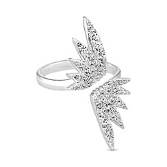 Simply Silver - Sterling silver open wing ring