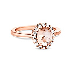 Simply Silver - Rose gold plated sterling silver oval ring
