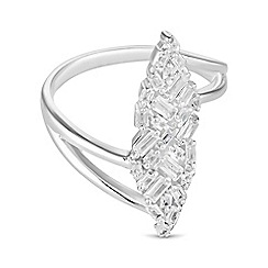 Simply Silver - Sterling silver multi cut ring