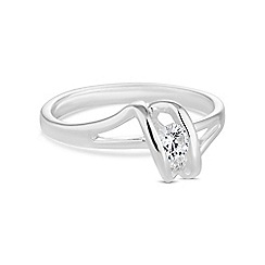 Simply Silver - Sterling silver buckle ring