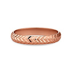 Simply Silver - Rose gold plated sterling silver band ring