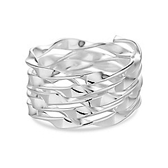 Simply Silver - Sterling silver twisted coil ring