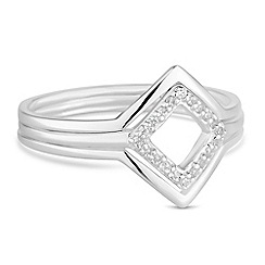 Simply Silver - Sterling silver angular ring