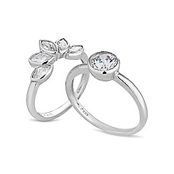 Simply Silver - Sterling silver stacker ring set